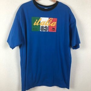 "Roma Athletic ""Italia 83"" Blue Tee Shirt XXL"
